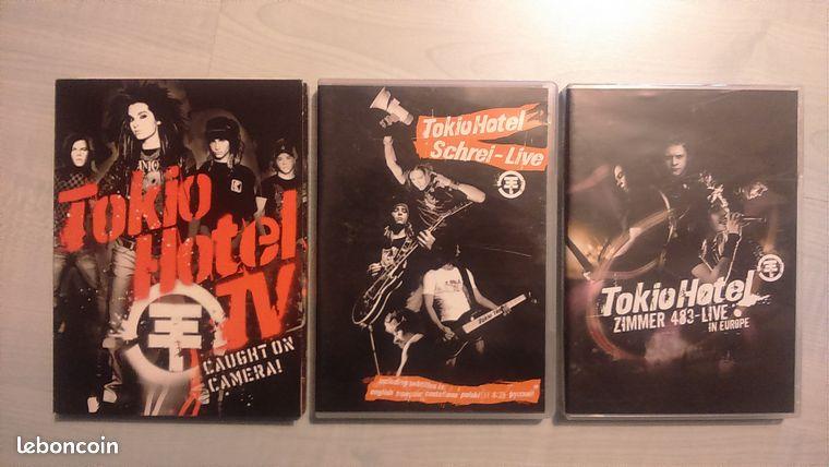 DVD Tokio Hotel - Esquay-Notre-Dame - DVD Schrei - Live: 5 euros DVD Zimmer 483 live in Europe: 5 euros DVD TV Caught on camera!: 7 euros 15€ les 3. Ils sont en très bon état, n'hésitez pas à me contacter si besoin.  - Esquay-Notre-Dame