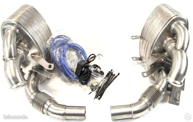 echappement inox valve porsche 911 996 non turbo equipement auto nord. Black Bedroom Furniture Sets. Home Design Ideas