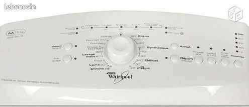 panne lave linge whirlpool voyants teints electrom nager. Black Bedroom Furniture Sets. Home Design Ideas