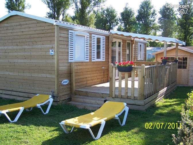 Mobil home grandcamp maisy avec piscine couverte campings for Camping calvados avec piscine couverte
