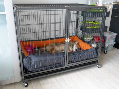 cage chien enclos chien cage chat 2 tailles neuf animaux. Black Bedroom Furniture Sets. Home Design Ideas