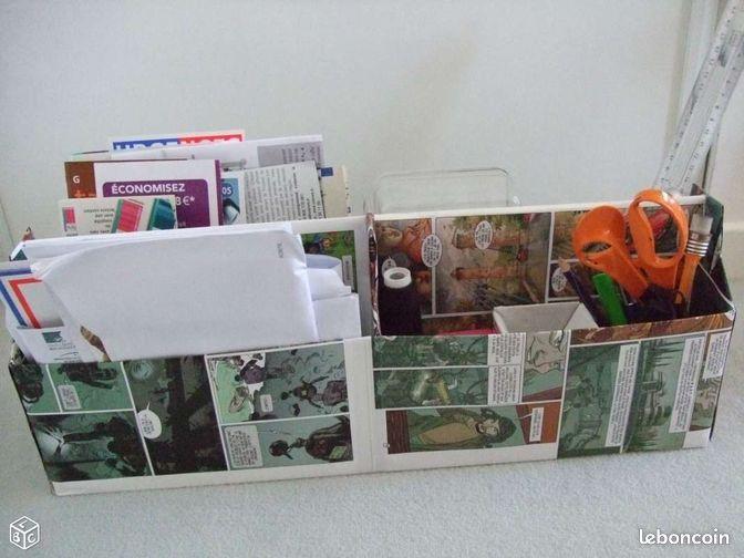 bo te bd 4casiers rangement bureau courrier cahier d coration seine et marne. Black Bedroom Furniture Sets. Home Design Ideas