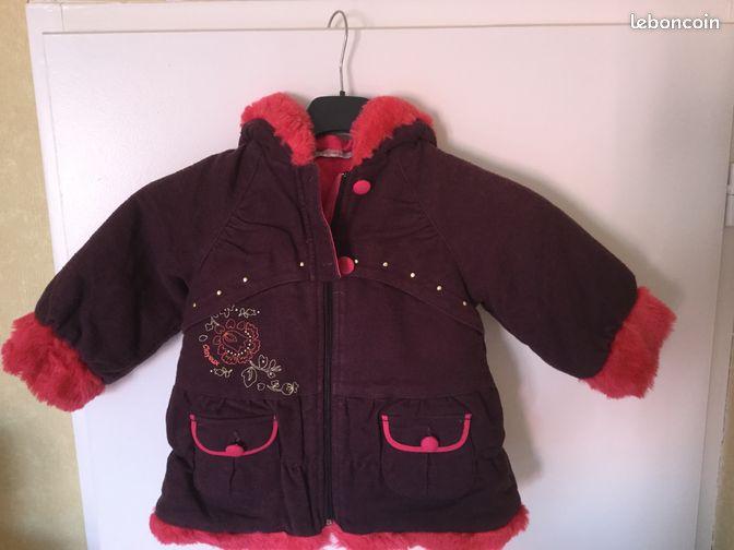 manteau chaud fille 12 mois v tements b b c te d 39 or. Black Bedroom Furniture Sets. Home Design Ideas