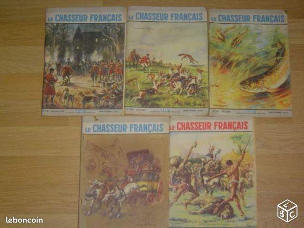 5 revues CHASSEUR FRANCAIS de 1960 (image 1)
