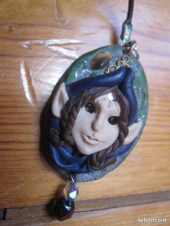 Collier pendentif elfe