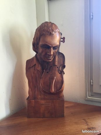 SCULPTURE BOIS D'OLIVIER (pièce unique signée )