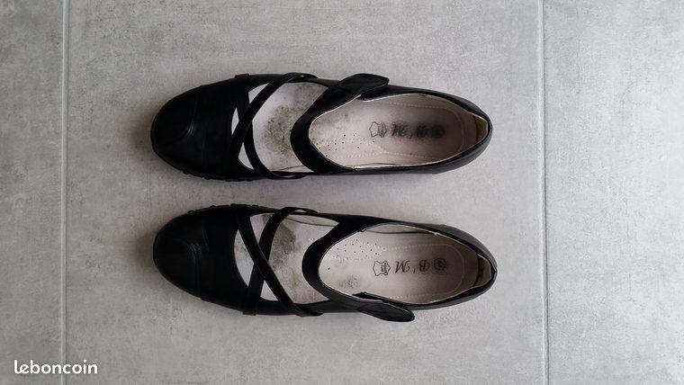 Chaussures ballerines babies noires