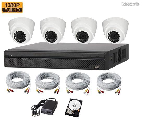 Kit de video surveillance 2mp full hd professionnel