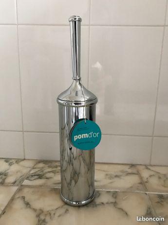 Porte brosse de toilette POMD'OR en laiton