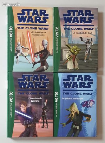 Lot de 4 Livres Star Wars The Clone Wars