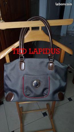 "Sac à main ""Ted Lapidus"" toile enduite TBE"