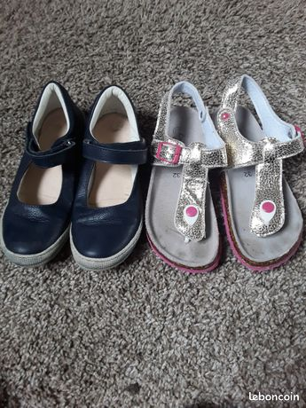 Lot de 2 paires de chaussures ete fille pointure 32