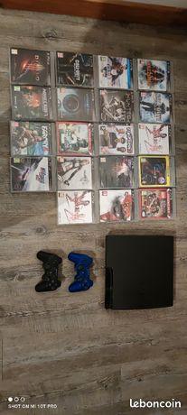 PS3 avec 19 jeux et 2 manettes