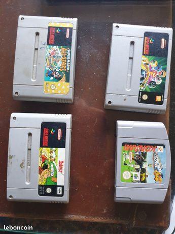 Cassettes jeux super Nintendo et 64